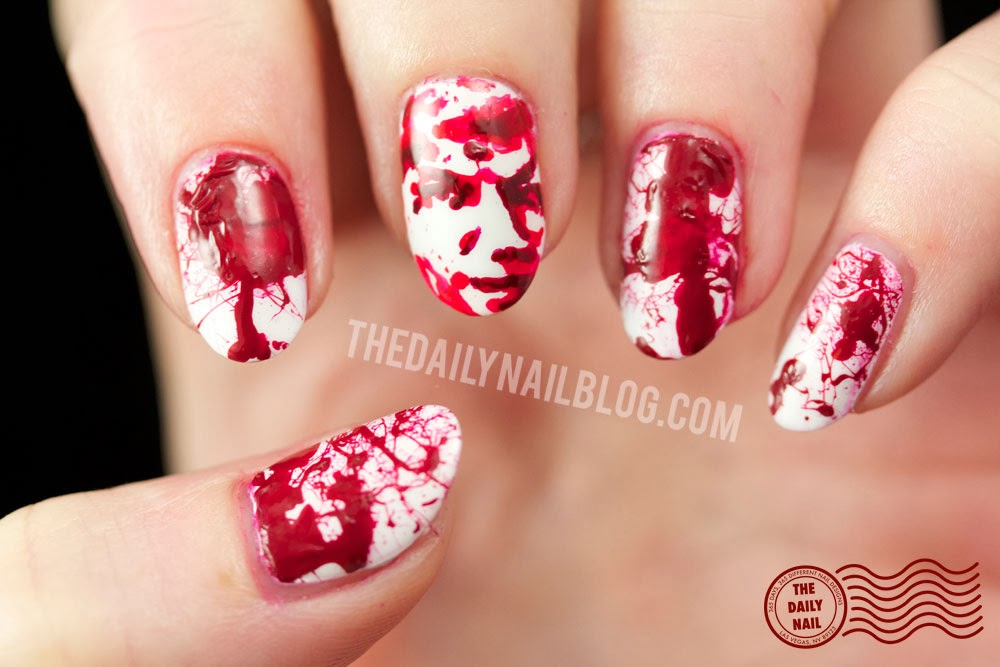 All Wrapped Up - Dexter Season 8 nail art