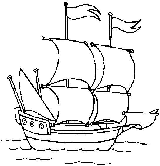 Tranh tô màu thuyền buồm