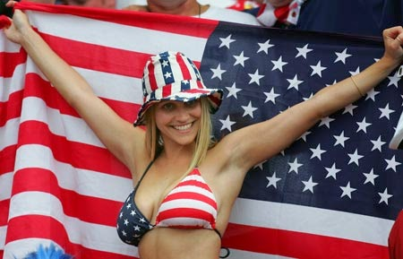 World Cup Brazil 2014: sexy hot girls football fan, beautiful woman supporter of the world. Pretty amateur girls, pics and photos   USA americanas american EEUU Estados Unidos