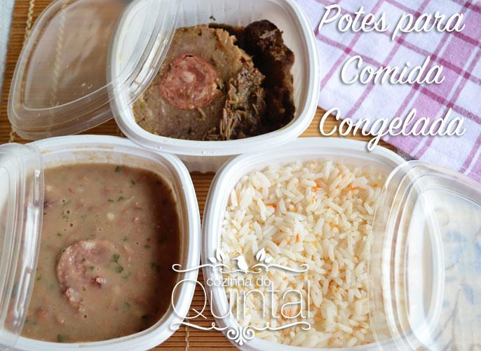 Potes para Comida Congelada Galvanotek na Cozinha do Quintal