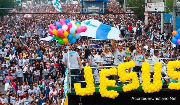 Marcha por Jesús en Brasil