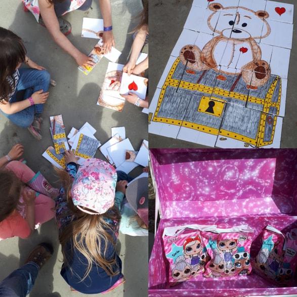 Chasse au trésor dans le bois idée fête enfants