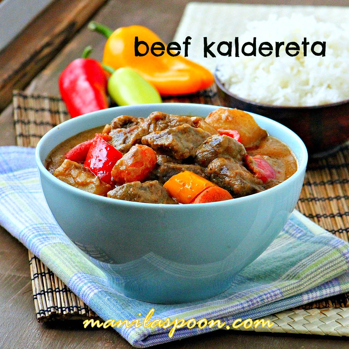 Kaldereta (Beef Stew in Coconut Milk)