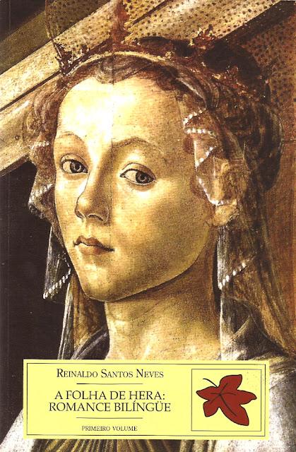 Capa do livro A folha de hera: Romance bilíngüe, volume I, de Reinaldo Santos Neves.