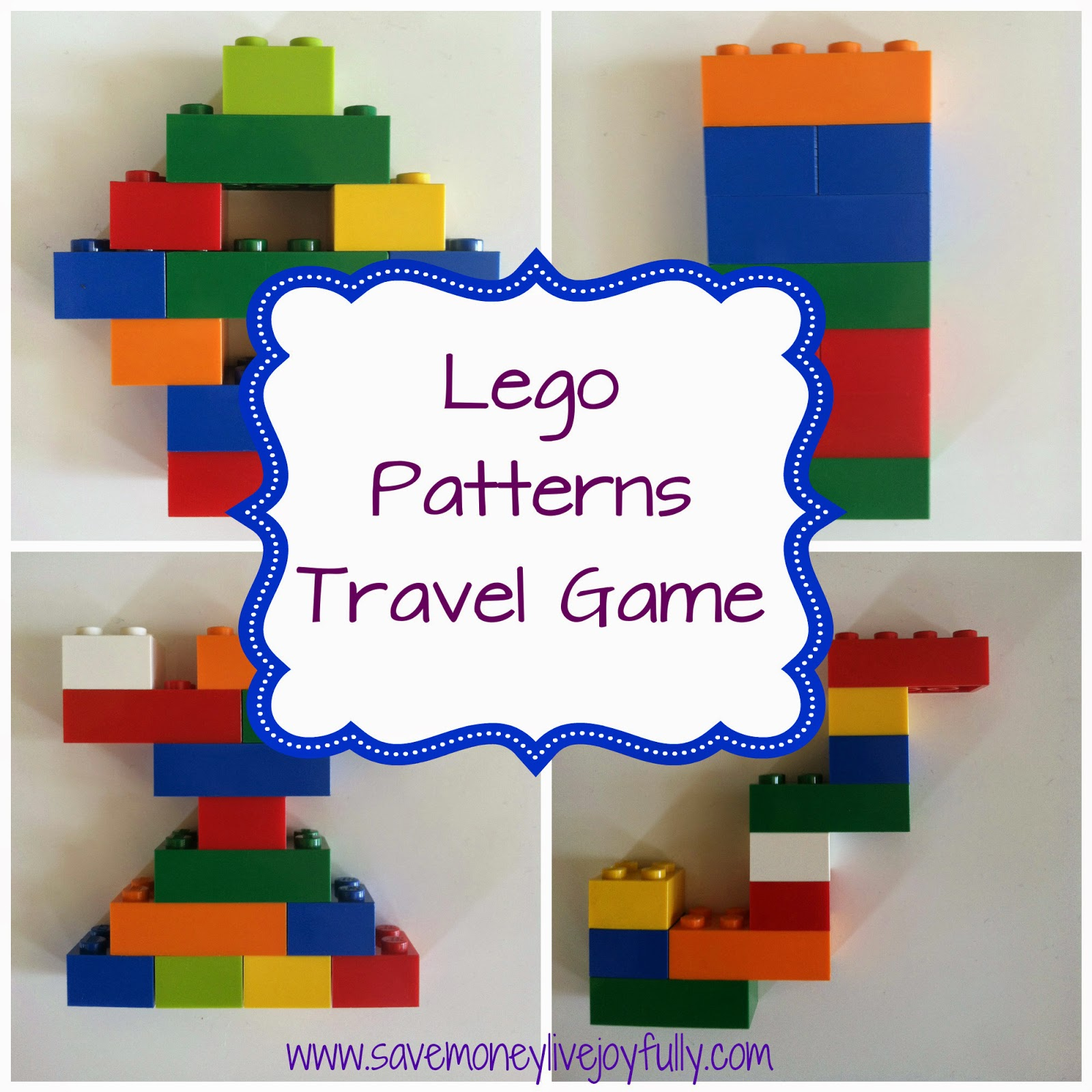 Save Money Live Joyfully Lego Patterns Travel Game Free Printables