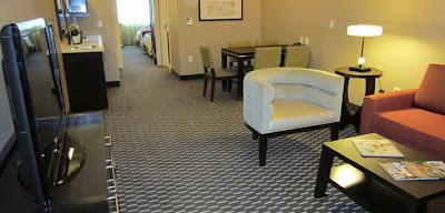 inside Embassy Suites room