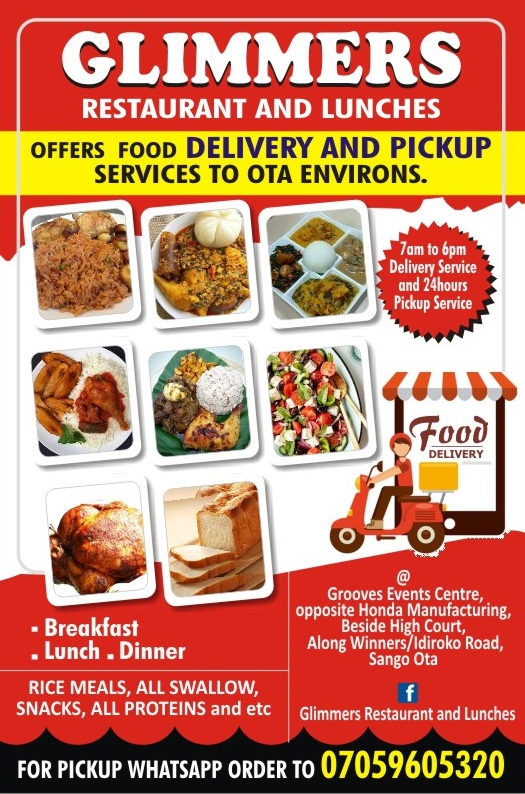 GLIMMERS RESTAURANT | CALL 08060728821