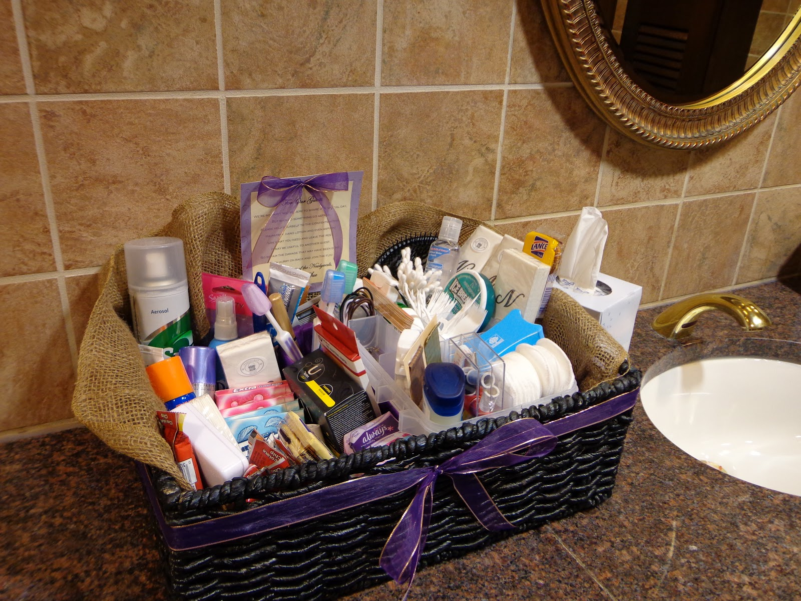 bathroom gift basket ideas my honey bunch wedding bathroom basket 15906