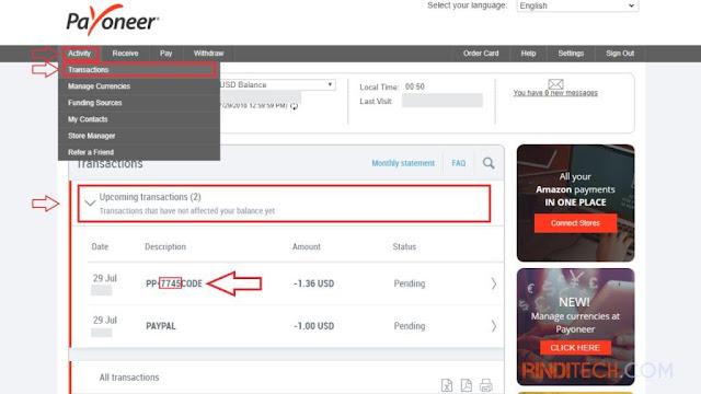 Cara Menghubungkan Kartu Debit Payoneer ke PayPal