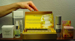 Korres, Neutrogena, Reviva Labs, L'Occitane, Kleem Organics anti-aging products group.jpeg