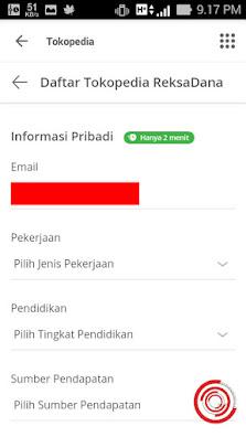 Untuk mendaftar ReksaDana kalian harus mengisi Informasi Pribadi + Foto KTP dan Tanda Tangan Digital