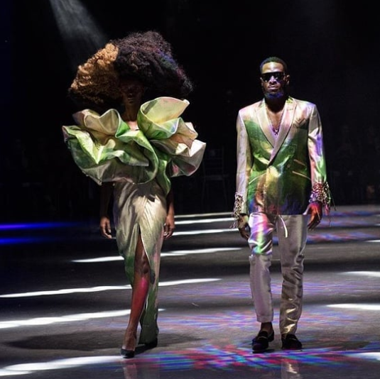D'banj walks the runway at the African Fashion International Johannesburg Fashion Week