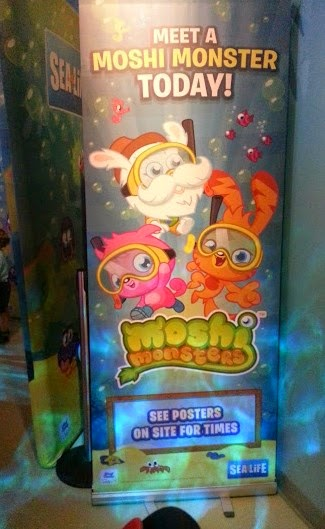 Moshi Monsters at Sea Life, Trafford Park, Manchester. Poster Meet Poppet