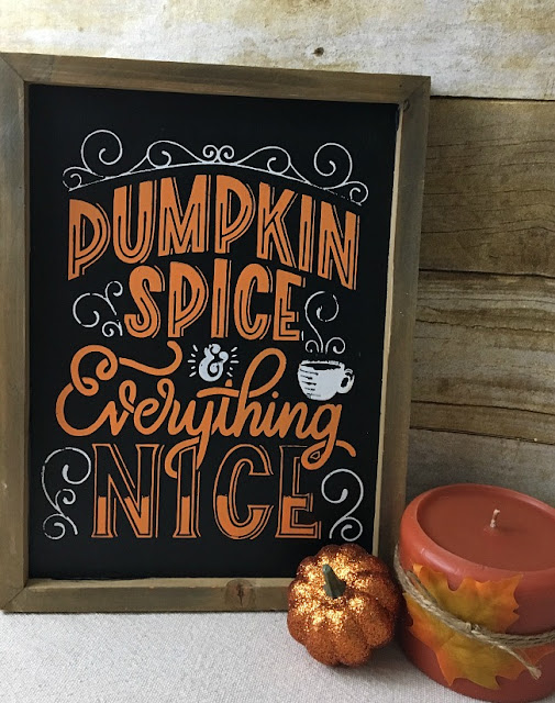 Vintage Paint and more... a vintage farmhouse Fall sign made with Chalk Couture chalk paste and transfer on a wood framed chalkboard