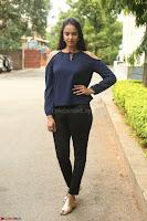 Poojita Super Cute Smile in Blue Top black Trousers at Darsakudu press meet ~ Celebrities Galleries 043.JPG