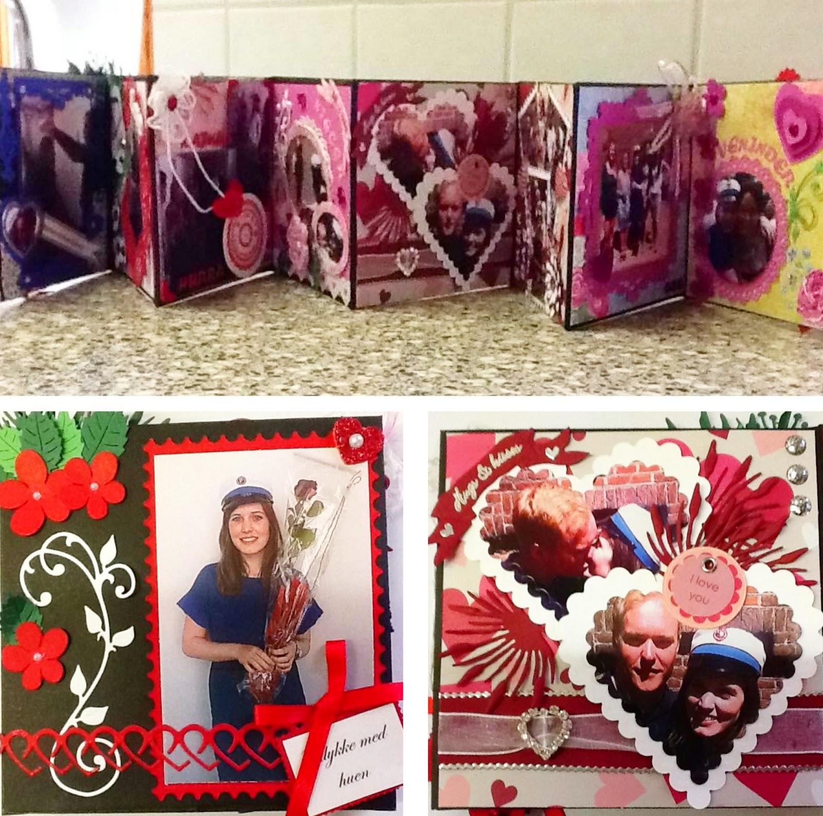 hjemmelavet, student, kort, kreativ, minialbum, fotoalbum, foto, billeder, album, studine, sommer, kærlighed, kærester, mor, forkælelse, gave,