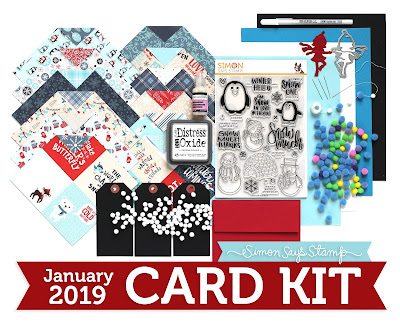 Simon Says Stamp Snow Much January 2019 Card Kit