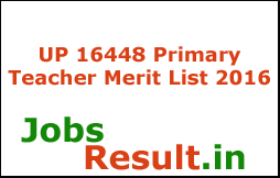 UP 16448 Primary Teacher Merit List 2016