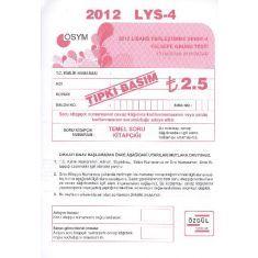 Özgül LYS 4 Felsefe Grubu Tarih Testi 2012