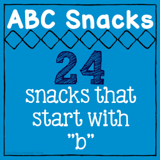 snacks that start with b, letter of the week, preschool snacks