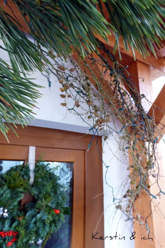 Weihnachten DIY Haustür Deko Winter