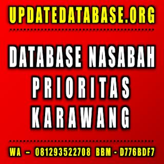 Jual Database Nasabah Karawang