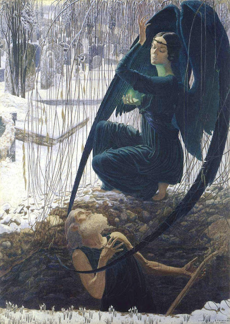 Death and the Gravedigger by Carlos Schwabe (1895)