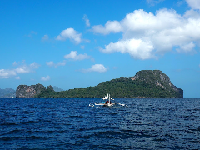 Helicopter Island on Tour C around Bacuit Bay, El Nido, Palawan, Philippines