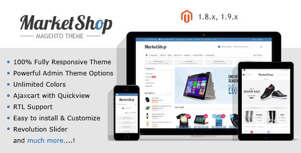Market Shop Ultimate Responsive Magento Theme