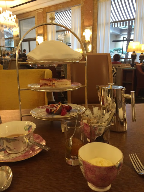 Tea time at the Prince de Galles, Paris