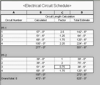Revit OpEd: Revit MEP - Circuit Length Calculation