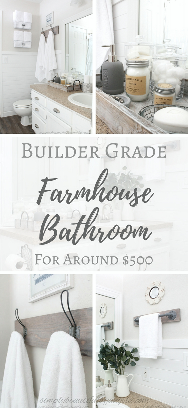 One Room Challenge Week 6 Builder Grade Farmhouse Bathroom Reveal