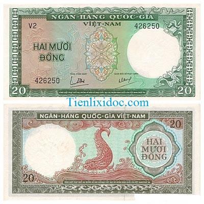 20 đồng việt nam cộng hòa 1964