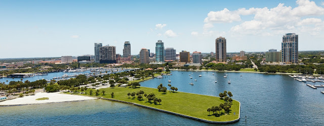 Downtown St Petersburg, Florida an up an coming food destination that is attracting the eye of foodies around the world