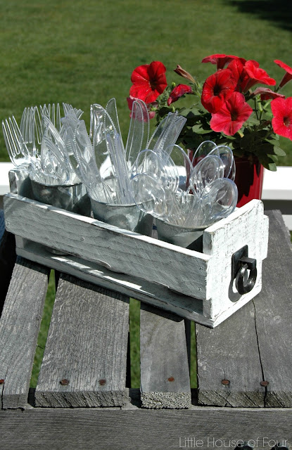 DIY Pallet Utensil Holder