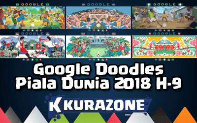 Google Doodles - Piala Dunia 2018 H-9