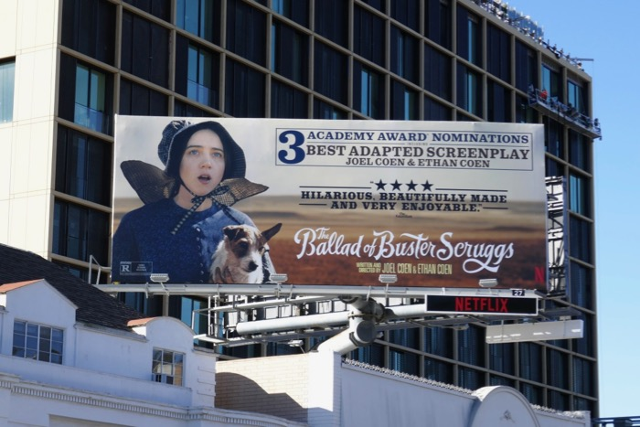 Ballad of Buster Scruggs Oscar billboard