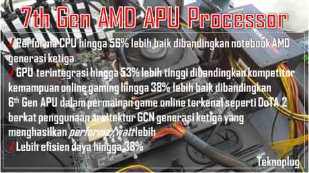 laptop amd dual processor asus x555bp dengan windows 10