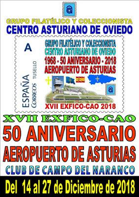Cartel de la exposición de coleccionismo del Centro Asturiano, 2018
