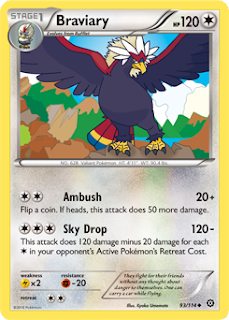 Braviary Steam Siege Pokemon Card