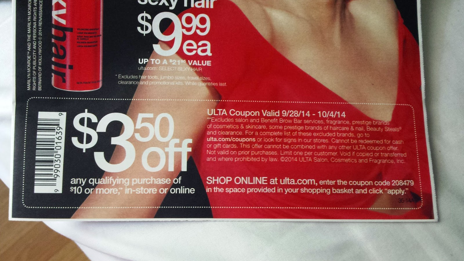 $3.50 off $10 At Ulta