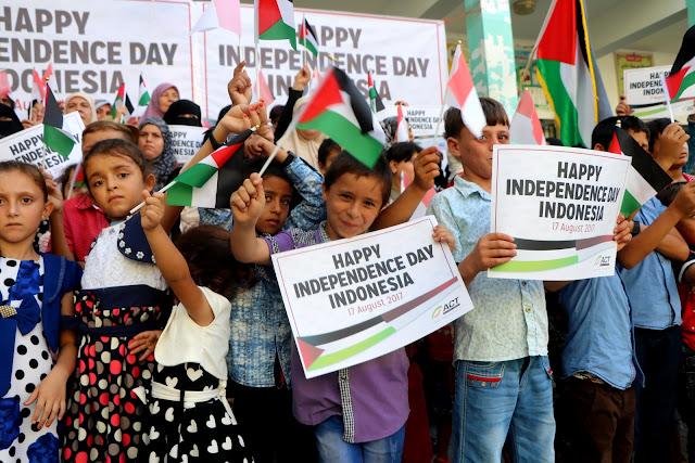 Ketika Anak-Anak Gaza Ucapkan Selamat Hari Kemerdekaan Indonesia 2017