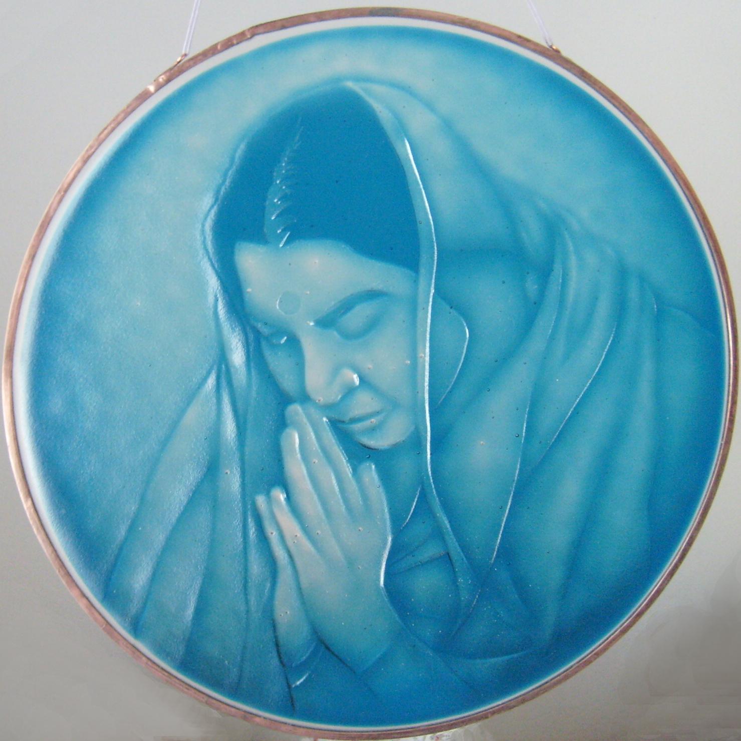 portrét sklo