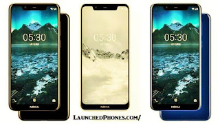 This is the latest Nokia telephone launched past times  Nokia X5 2018 Black, White, too Blue launched