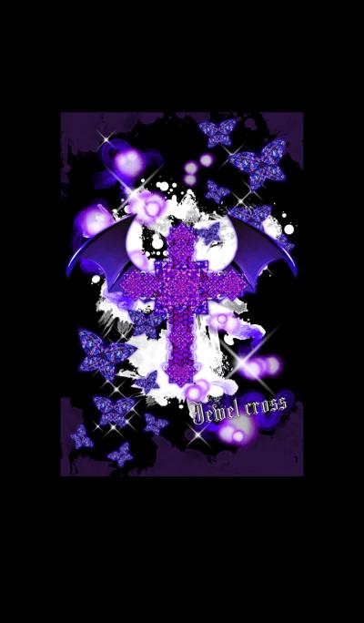 Jewel cross -Devil's purple-