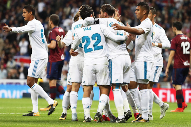 Real Madrid derrotó 2-0 al Eibar