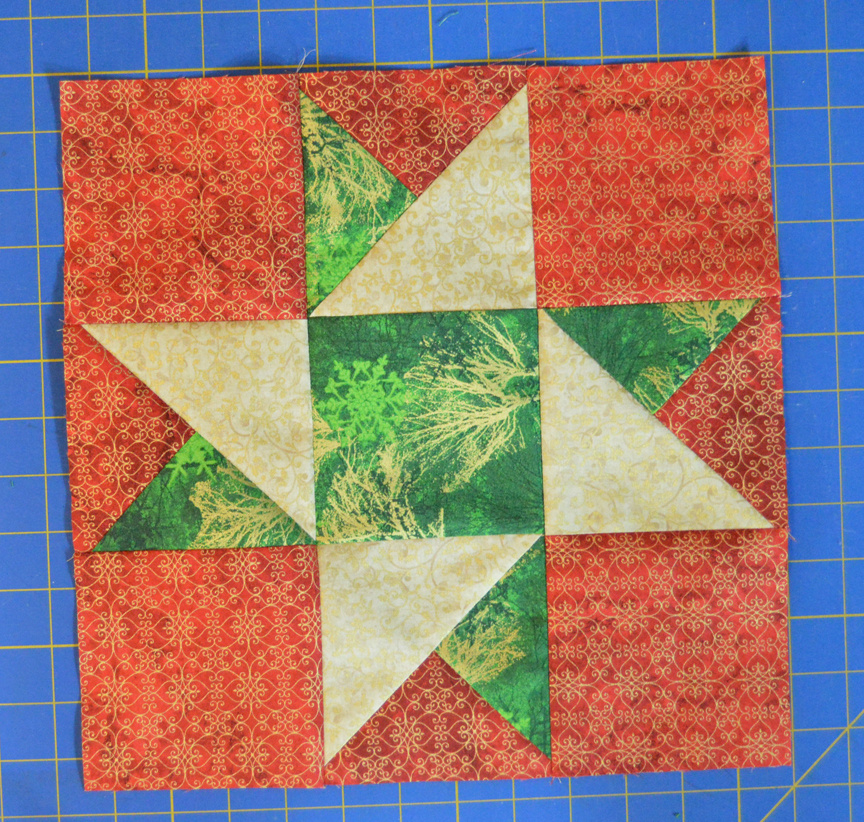 Inspired By Fabric Silent Night Block Sampler Day 5