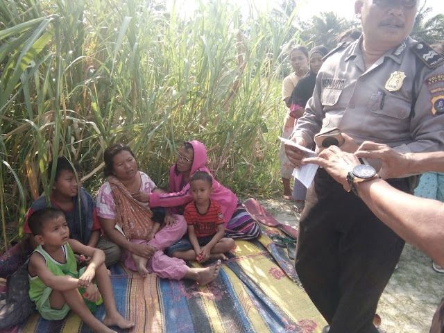 Polisi memintai keterangan dari istri korban yang hanyut di Sungai Silau.