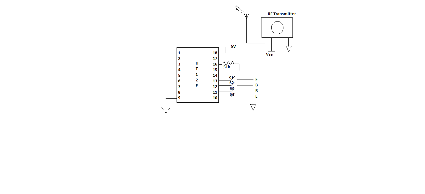 Embedded Electronics At89c51 Programming Servo Motor Control Through Keypad Using 8051 Microcontroller Fig2 Transmitter Part
