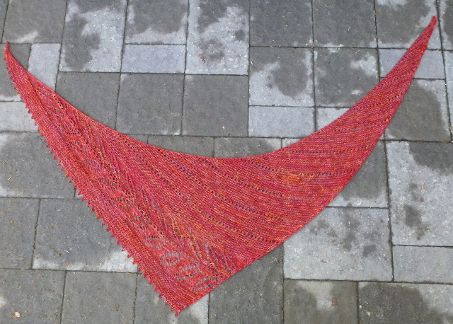 Not Just About Knitting Silverleaf Shawlette